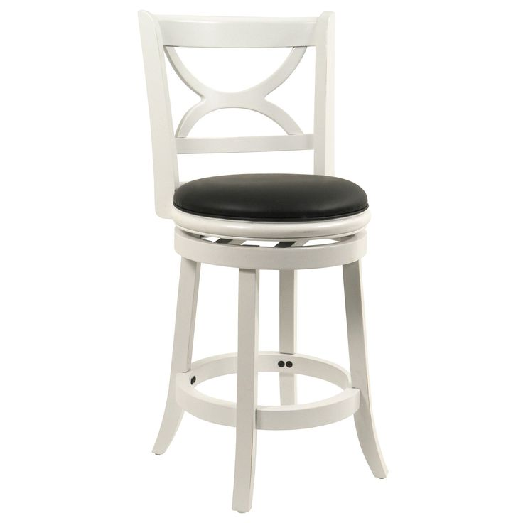 Amazon.com - Boraam 43724 Florence Swivel Stool 24-Inch Distressed White  sc 1 st  Pinterest & 43 best kitchen stools images on Pinterest | Kitchen stools ... islam-shia.org