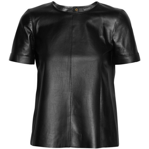 Gucci Leather T-shirt ($1,850) via Polyvore