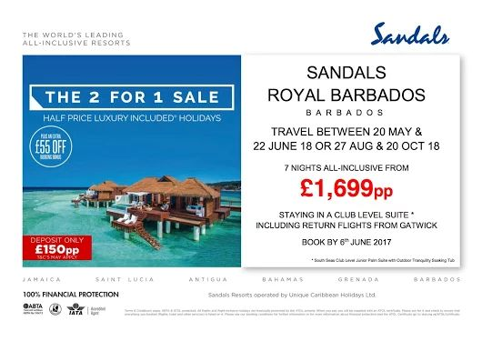 Book before the 6th of June 2017 for holidays 2017 and 2018  #SandalsSale #AllInclusive Call now 01698 425444  #Barbados  https://plus.google.com/u/0/b/117155539269047519956/collection/syUgRE
