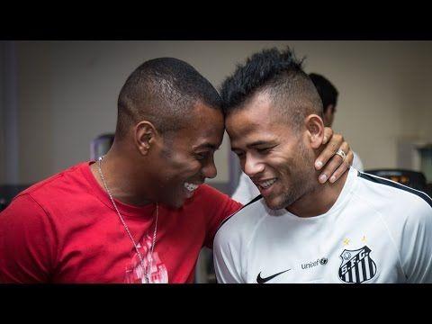 Robinho se despede do elenco do Santos FC - YouTube