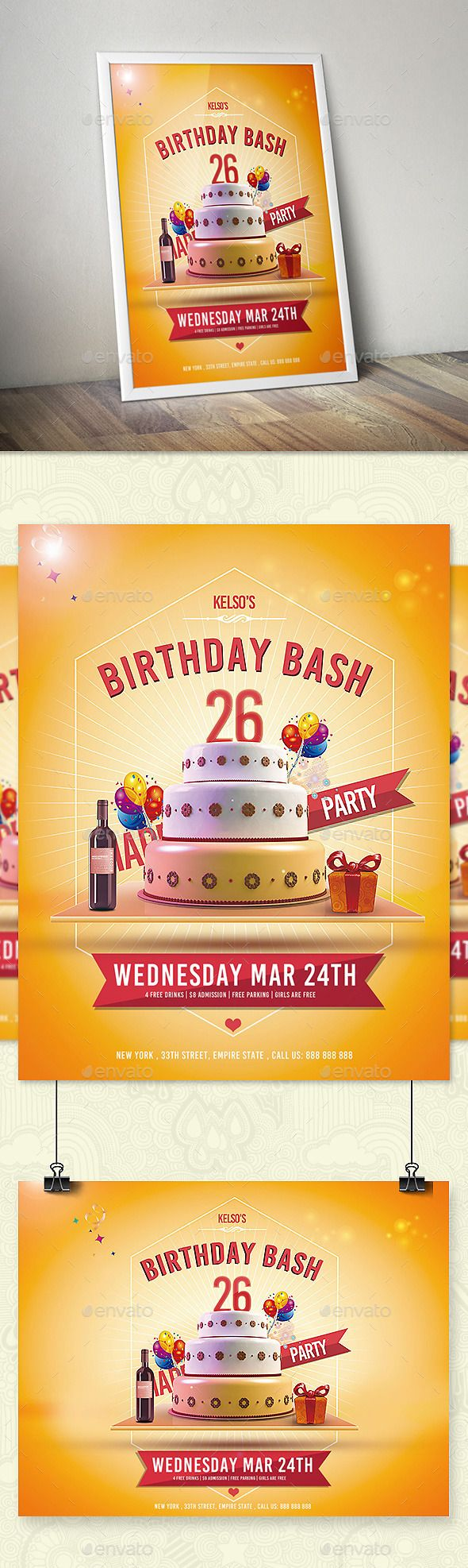 732 best Birthday & Anniversary Flyer Template images on Pinterest ...