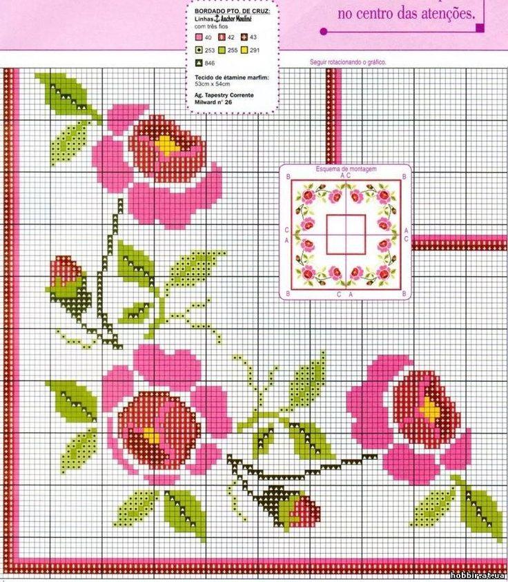 ponto-cruz-flores-punto-de-croce-fleur-18-2-500x400 78 gráficos de flores em ponto cruz para imprimir
