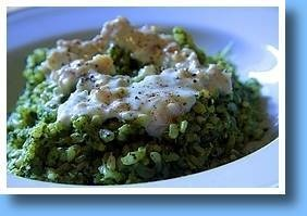 Tuscan Kale Risotto in a Gorgonzola and walnut sauce