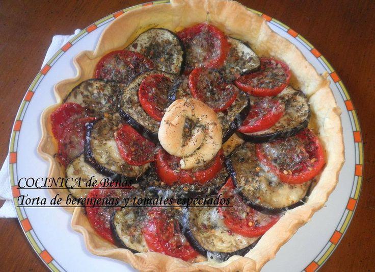 COCINICA de Benas: Torta de berenjenas y tomates especiados