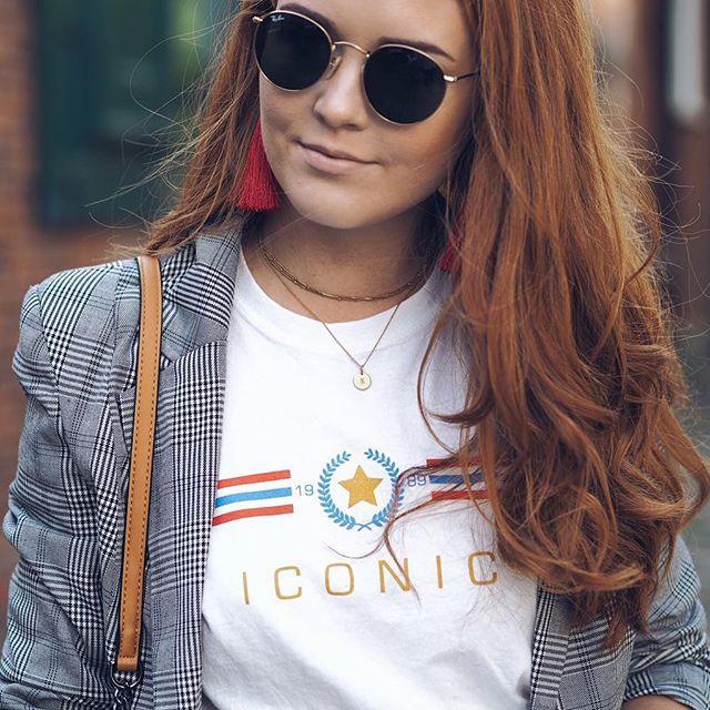Details wearing Rayban Sunglassed, Topshop Earrings, Mejuri Necklace | kirstyeelizabeth.com