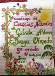 caratulas para cuadernos de secundaria a mano - Buscar con Google