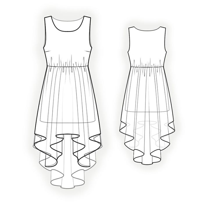 Dress With Gathering  - Sewing Pattern #4262. Made-to-measure sewing pattern from Lekala with free online download.