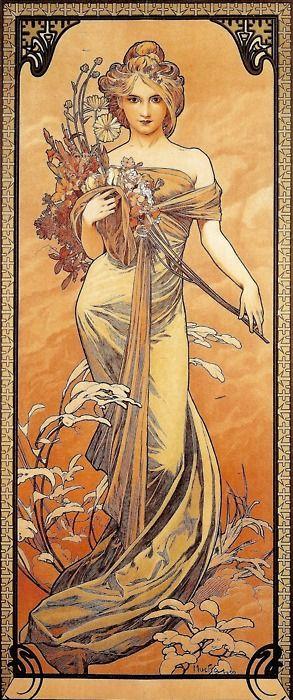 The Seasons: Spring Alphonse Mucha