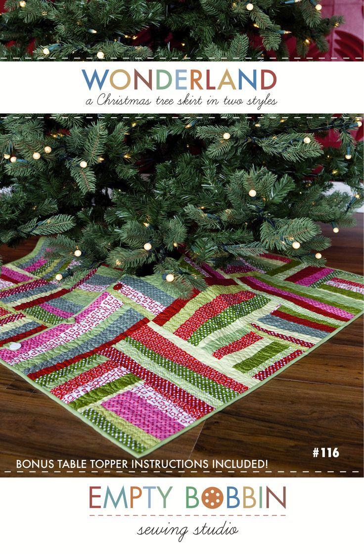Wonderland A Christmas Tree Skirt Pattern