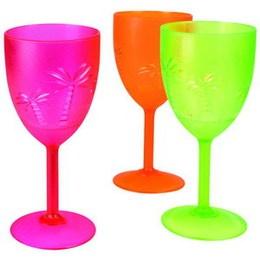 Tropisch partyglas - Prachtige glazen voor een tropisch feest! De glazen zijn van plastic, in vrolijke kleuren en bedrukt met palmbomen!