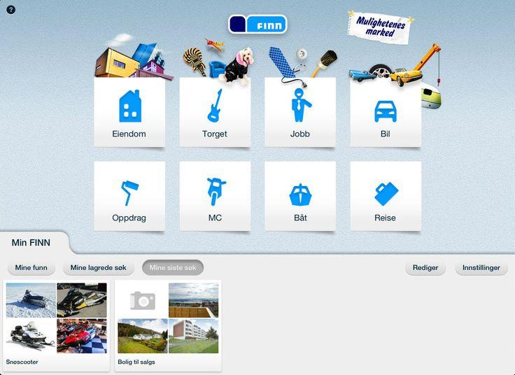 Finn.no på iPad. Foto: Finn.no.