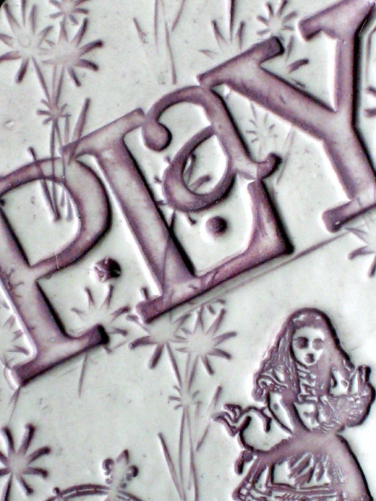 PLAY  Purple Pink Tag Style Ceramic Wall Hanging / by LuckyNola, $20.00