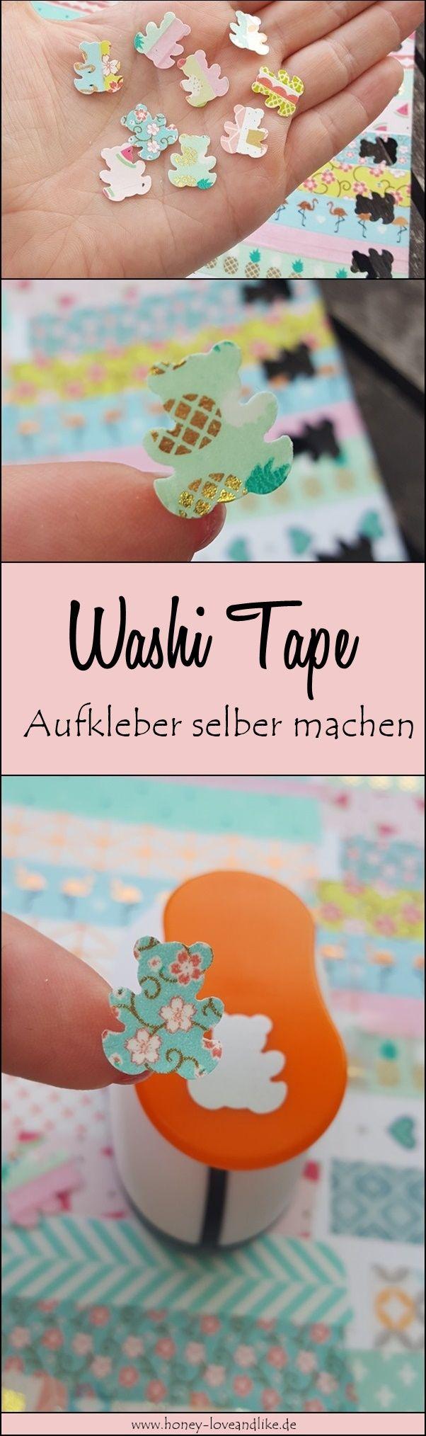 Aufkleber selber machen ist so easy peasy! Nimm einfach Washi Tape