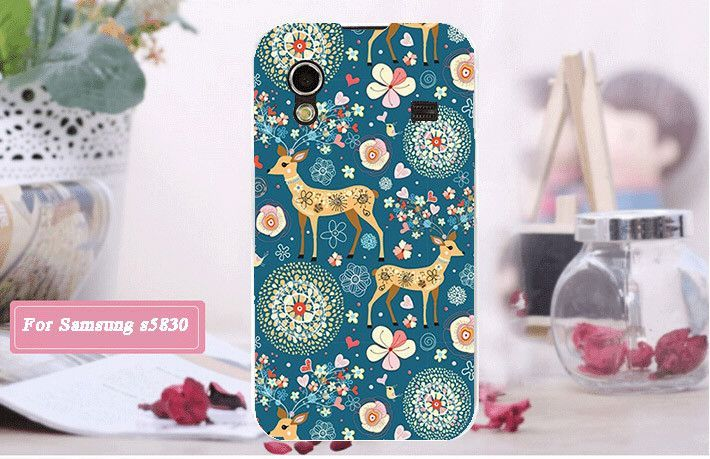 Cartoon Pattern Back Phone Case For Samsung Galaxy Ace S5830 S5830I GT-S5830i 3D Printing PC Hard Phone Cover