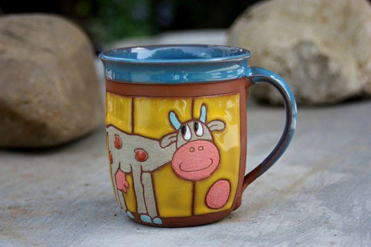 Pottery Mug, Ceramic Mug Handmade, Unique Gift, Ceramic Cup, Gift for kids, Coffee Mug, Gift for friend, Funny Cup, Mug for kids, Cups, Mugs by PotteryPapas on Etsy