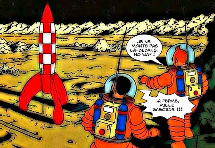 Tintin / On a marché sur la Lune
