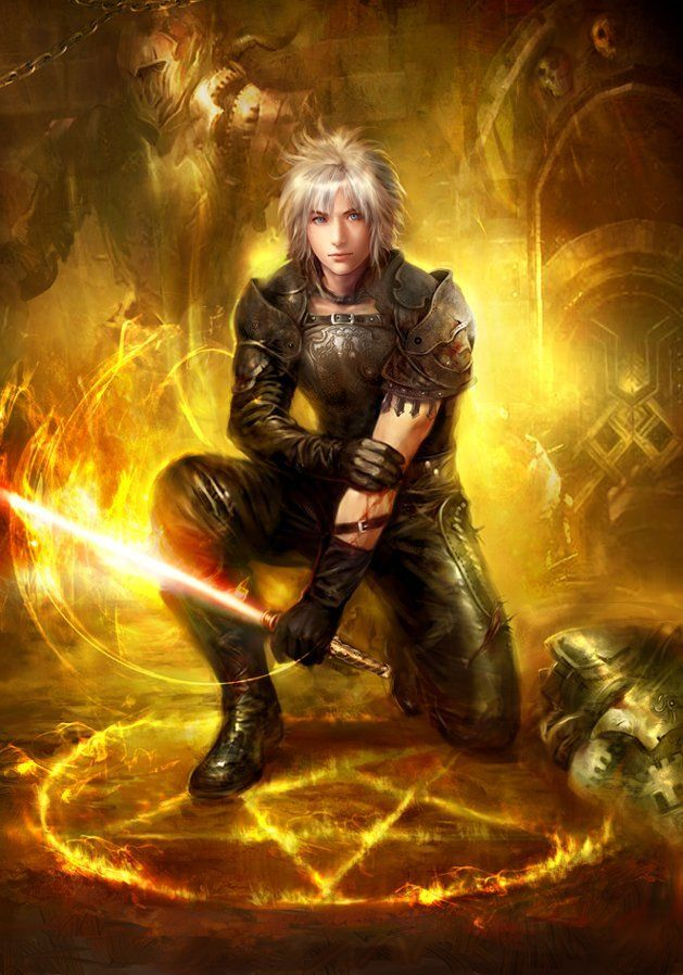 Fantasy Warrior Art By Alphacoders Anime Hechizeros
