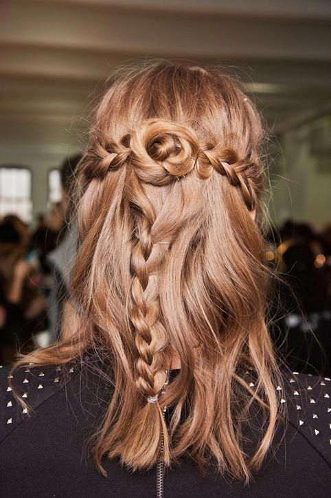 Holiday Hairstyle Idea For A Holiday Dinner Try Braids Braids Used To Scream Weekend Hair Cute But Hair Styles Medium Hair Styles Medium Length Hair Styles