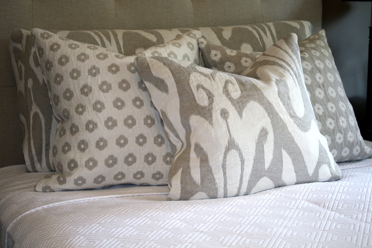 Cushions can add to any bedroom setting.
