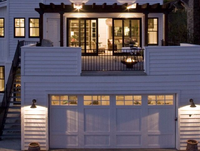 15 best images about carport porch on pinterest flat for Garage with deck on top