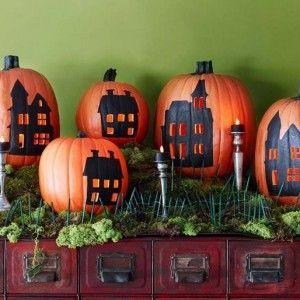 Decoration for garden pumpkin / Украшения для огорода из тыквы