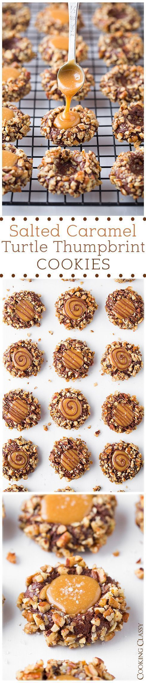 Salted Caramel Turtle Thumbprint Cookies Recipe / Buzz Inspired on imgfave