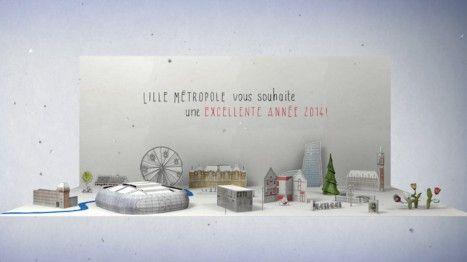 Carte de voeux réalisée par Hikari Corporate pour la Communauté Urbaine de Lille