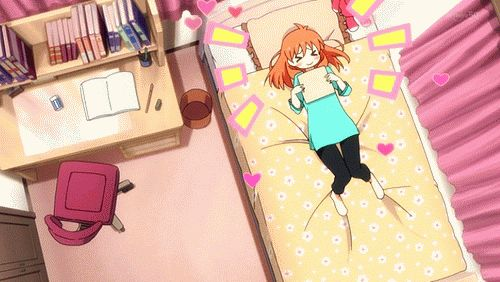 WHEN UR CRUSH ACCEPTS U.......or for me, its more like, I PASSED THE EXAM WHOOOHOOOOO. Gekkan Shoujo Nozaki-kun