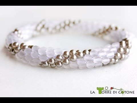 Tutorial perline - Come fare un fiore con perline - Come fare collana bracciale facili fai da te - YouTube