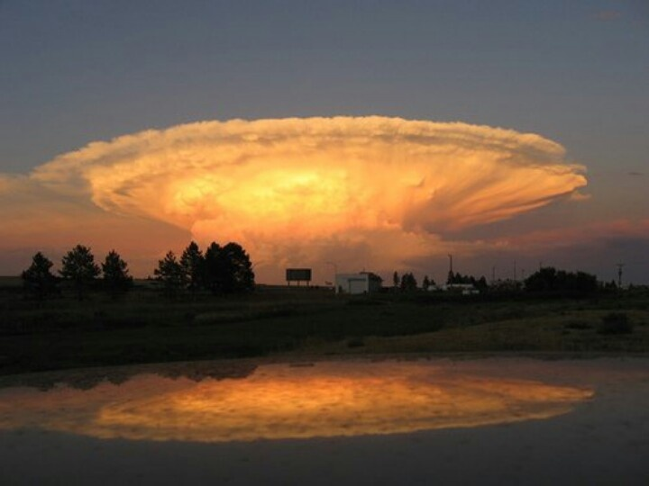 Sorprendentes imagenes que pueden formar las nubes, no cren?