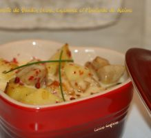Recette - Cassolette de boudin blanc au Chaource et à la moutarde de Reims - Notée 4.7/5 par les internautes