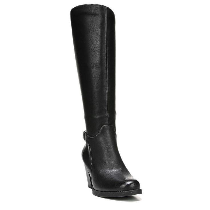 NaturalSoul by naturalizer Ysabelle Women's Riding Boots, Size: medium (9.5), Black