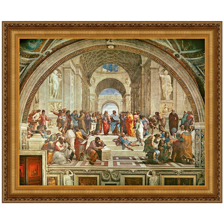 How the school of athens represents
