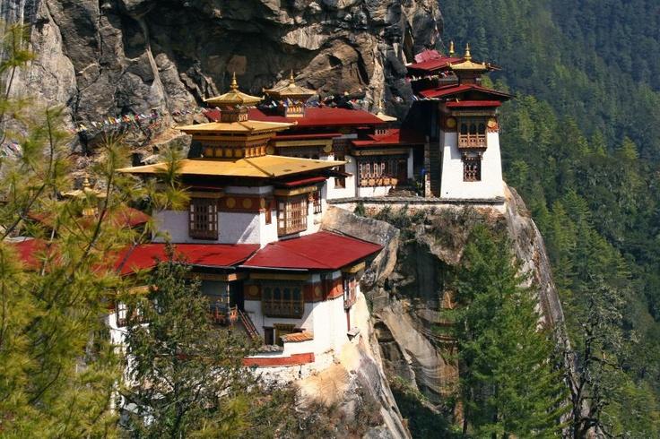 Dzong de Taktsang, près de Paro au Bhoutan