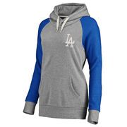 Majestic Los Angeles Dodgers Women's Royal/Heathered Gray Plus Size Strong Desire Hoodie