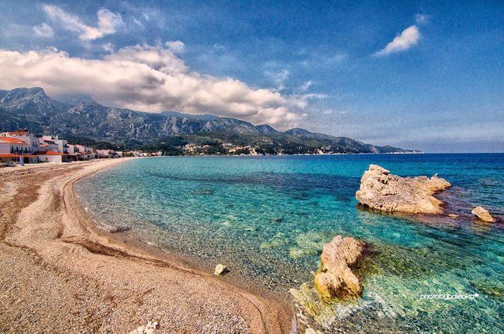 The beach of Kokkari!Samos Island, Greece! Photo by Giannis Paleokastritis
