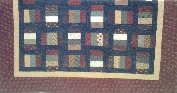 Quilted4You: Kays latest quilt - Kansas Troubles fabrics #quilting #longarm
