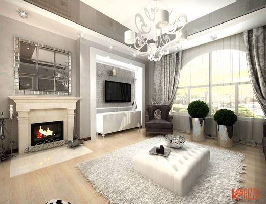 Дизайн интерьера дома с элементами ар-деко в Ростове-на-Дону. Гостиная