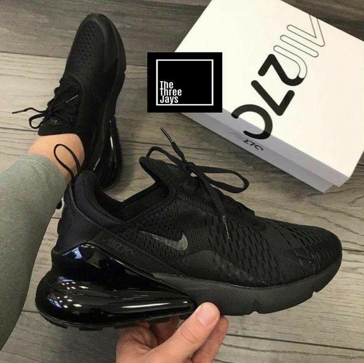 Black Air Max 270 In 2020 Black Nike Shoes Black Nikes Nike Shoes Women