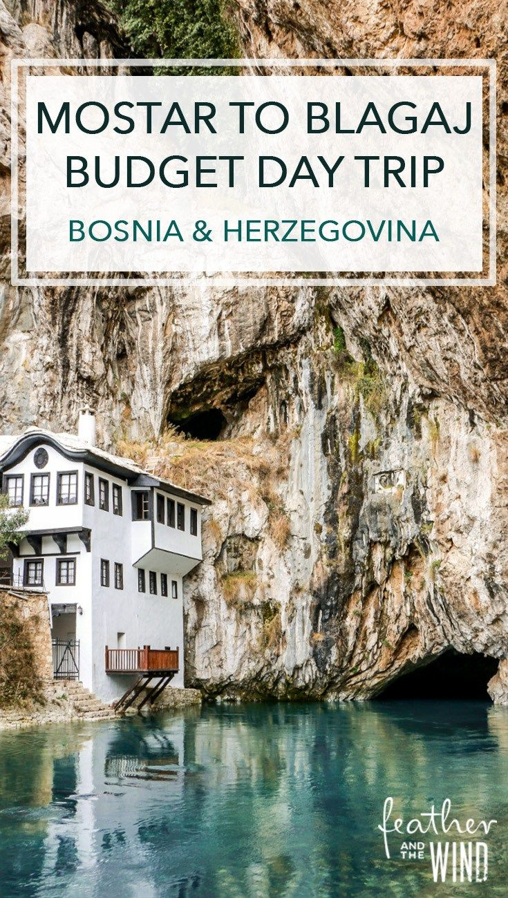 Mostar to Blagaj Day Trip: The best tips for visiting this peaceful paradise in Bosnia and Herzegovina. Our DIY guide helps you plan your tour for only $6!