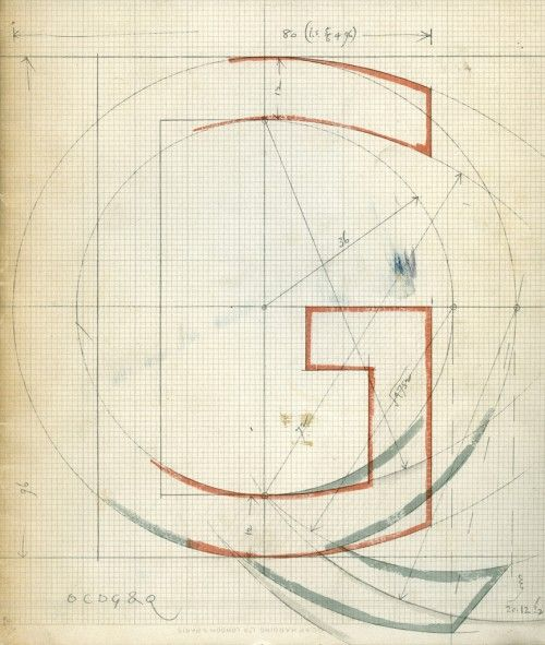 Eric Gill, drawing of Gill Sans, 1933.