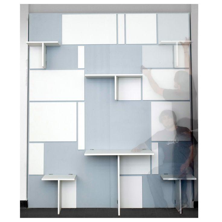 klappwand platzsparendes m bel f r die wand von idmodus living great ideas pinterest. Black Bedroom Furniture Sets. Home Design Ideas