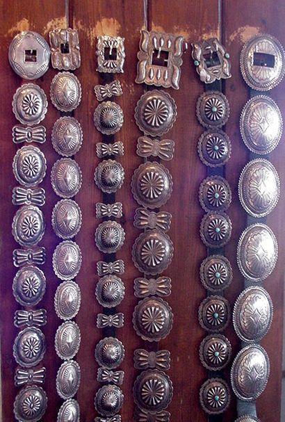 simple silver conchos