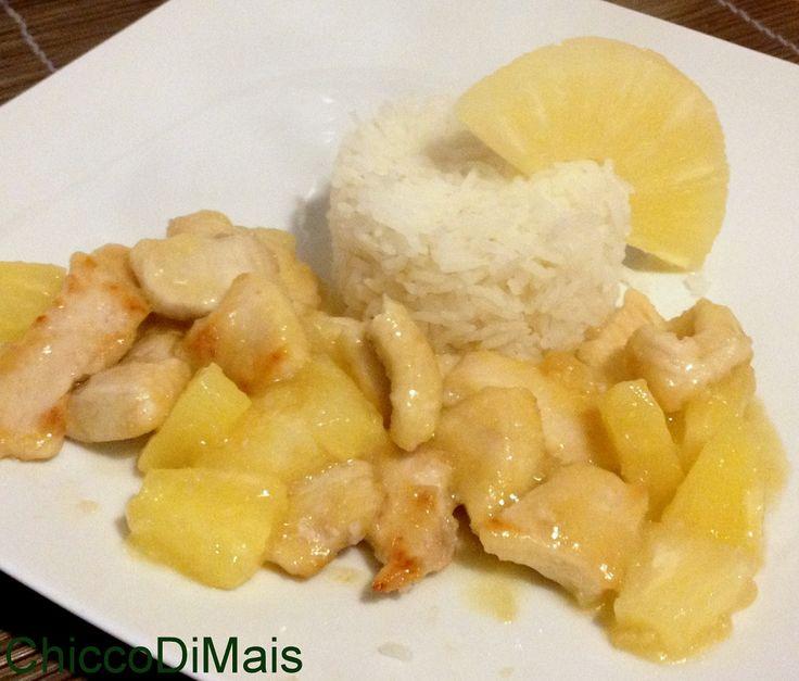 Pollo all'ananas ricetta cinese il chicco di mais http://blog.giallozafferano.it/ilchiccodimais/pollo-all-ananas-ricetta-cinese/