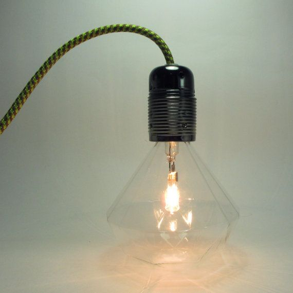 Diamond Bulb Pendant Light  led lamp  diamond by LightwithShade