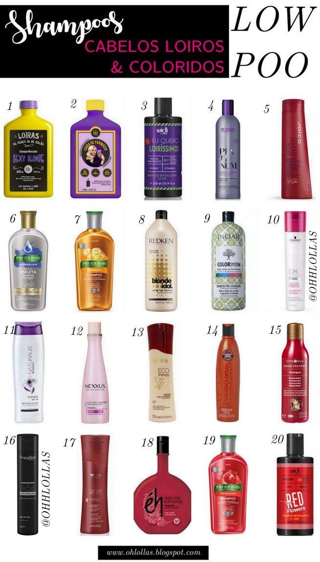 Produtos para cabelos loiros e para cabelos coloridos. Shampoos para Cabelos Loiros e Coloridos Liberados para Low Poo. Shampoos sem sulfato para cabelos loiros e para cabelos tingidos.