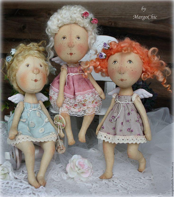 Купить Ангелочки по мотивам работ Е.Гапчинской.Ирис.Лилу и Паулина. - кукла ручной работы