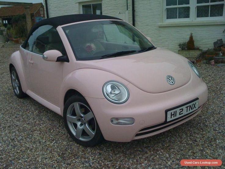 VW Volkswagen Beetle Convertible Pink Car #vwvolkswagen #beetle #forsale #unitedkingdom