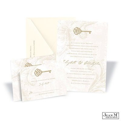 Key to My Heart Wedding Invitation - Champagne.... These were the invitations I was originally looking at