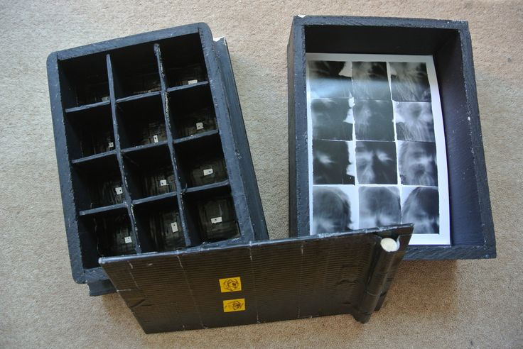 Homemade Box Camera with 12 holes - for light sensitive photo paper